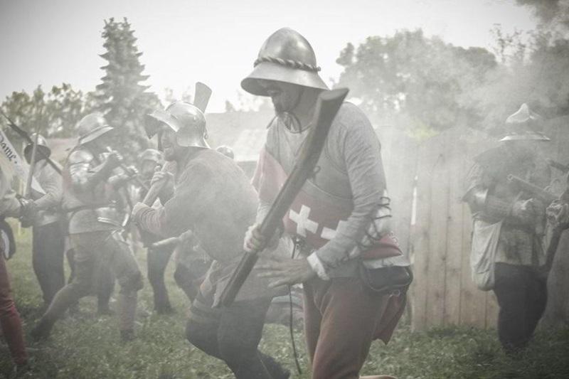 Medovinový stánek během bitvy v Budyni