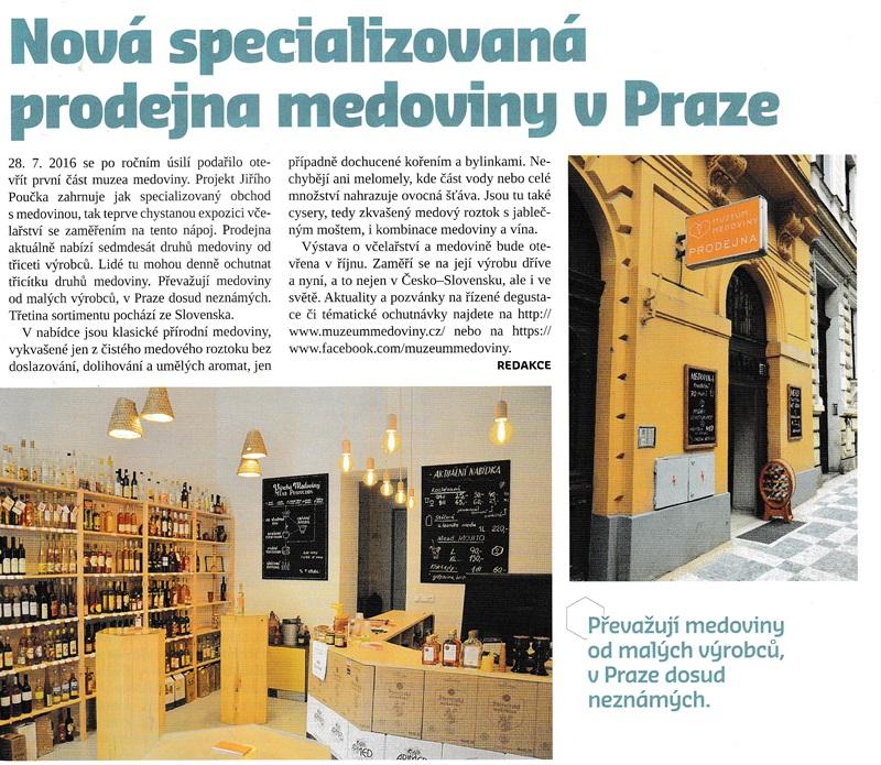 Nová specializovaná prodejna medoviny v Praze