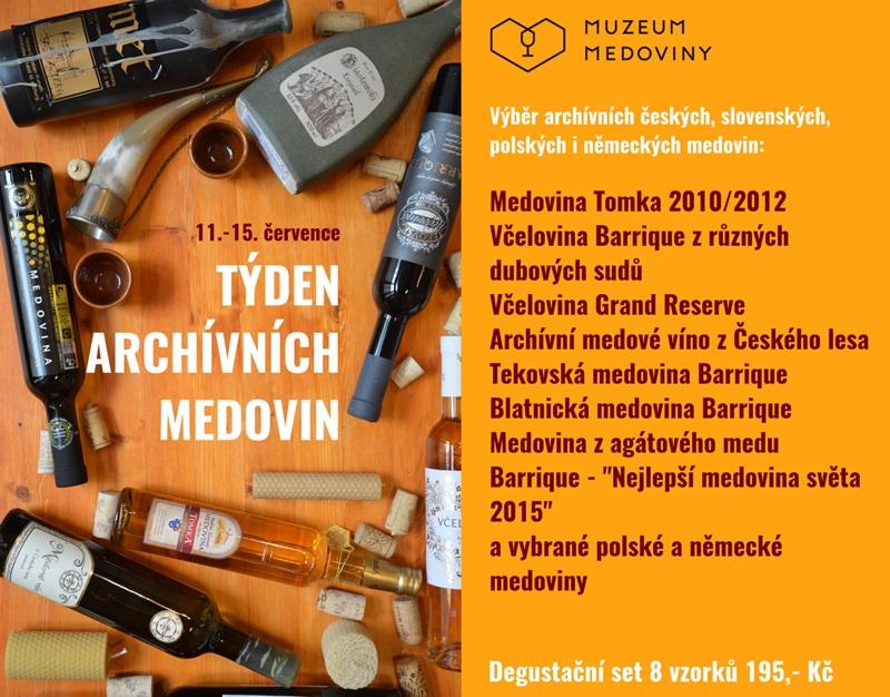 Přijďte ochutnat archívní medoviny - až do soboty