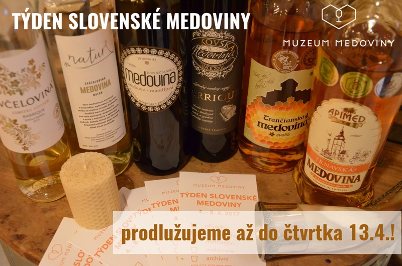 Prodlužujeme festival slovenských medovin včetně soutěže o nejchutnější medovinu velikonoc