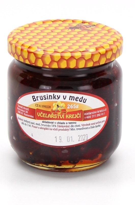 Včelařství Krejčí: Brusinky v medu