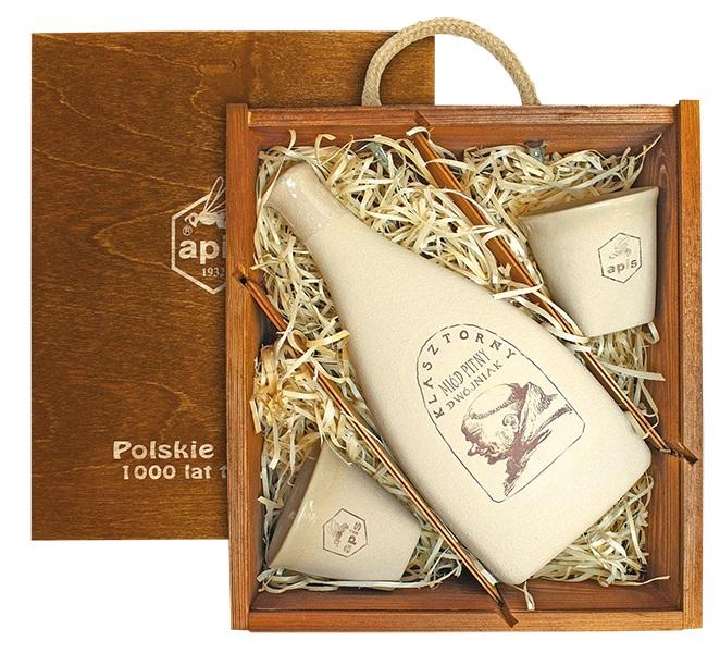 Apis: Klasztorny - Miód pitny dwójniak (dárková krabice s 2 kalíšky)