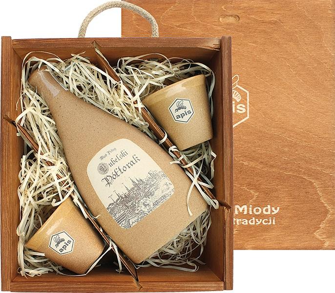 Apis: Lubelski - Miód pitny Półtorak (dárková krabice s 2 kalíšky)
