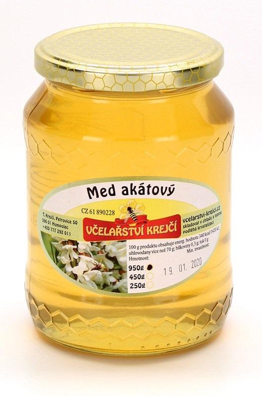 Včelařství Krejčí: Med akátový