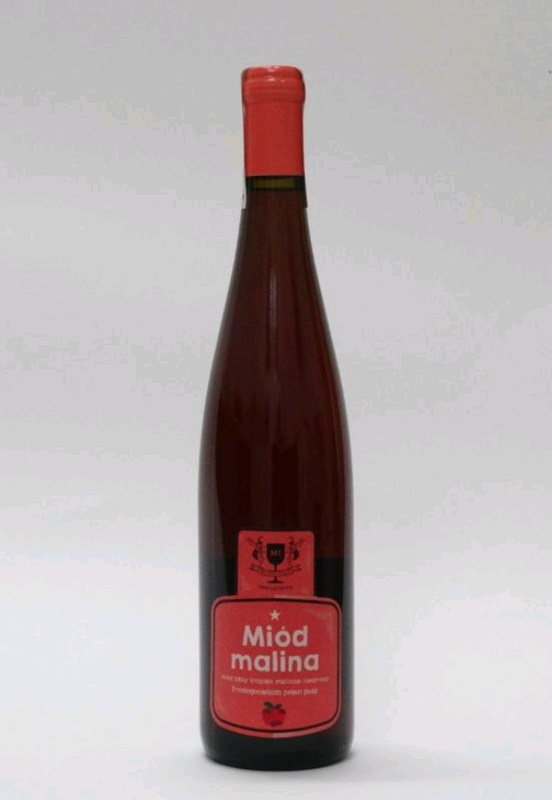 Miodosytnia Imbiorowicz: Miód malina - Raspberry mead - Miód pitny trójniak