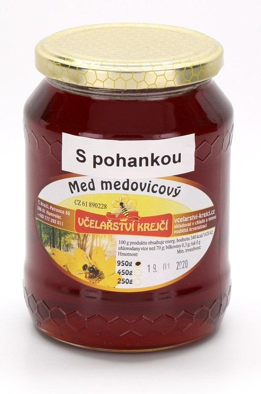 Včelařství Krejčí: Med medovicový - s pohankou