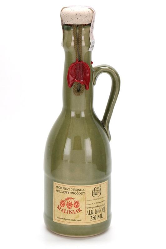 PASIEKA JAROS Sp. z o.o.: Miód pitny Dwójniak - Maliniak (ceramic)