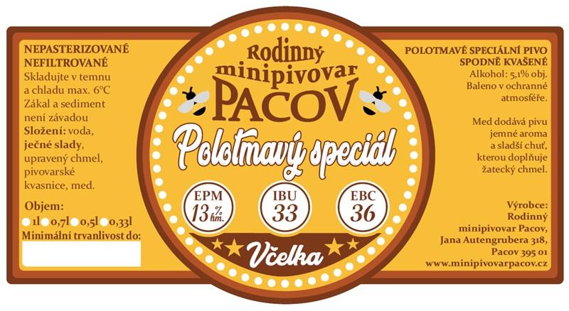 Vladislava Němcová: Včelka - polotmavý speciál - medový